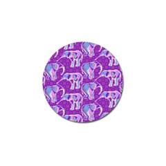 Cute Violet Elephants Pattern Golf Ball Marker