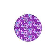 Cute Violet Elephants Pattern Golf Ball Marker (4 Pack)