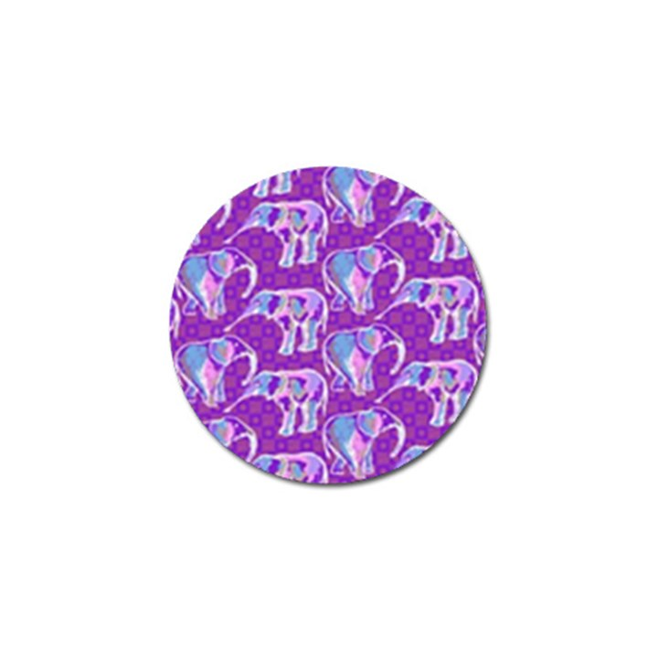 Cute Violet Elephants Pattern Golf Ball Marker (10 pack)