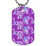 Cute Violet Elephants Pattern Dog Tag (Two Sides) Front