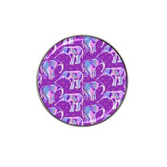 Cute Violet Elephants Pattern Hat Clip Ball Marker