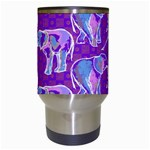 Cute Violet Elephants Pattern Travel Mugs (White) Center