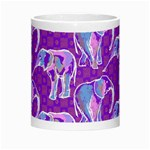 Cute Violet Elephants Pattern Morph Mugs Center