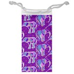Cute Violet Elephants Pattern Jewelry Bags Front