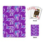 Cute Violet Elephants Pattern Playing Card Back