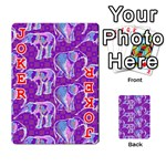 Cute Violet Elephants Pattern Playing Cards 54 Designs  Front - Joker2