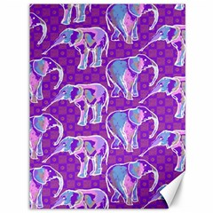 Cute Violet Elephants Pattern Canvas 36  x 48