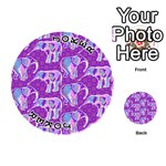 Cute Violet Elephants Pattern Playing Cards 54 (Round)  Front - Joker1