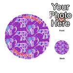 Cute Violet Elephants Pattern Playing Cards 54 (Round)  Front - Joker2