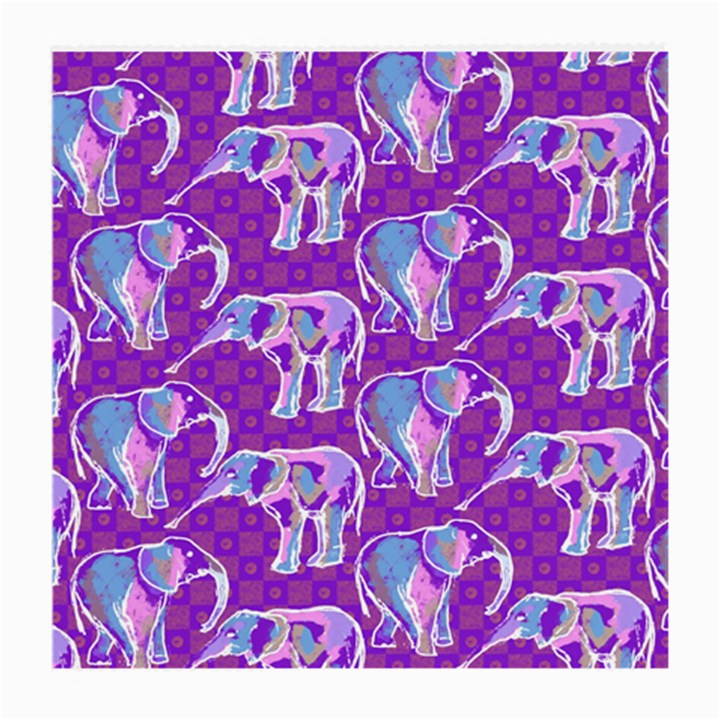 Cute Violet Elephants Pattern Medium Glasses Cloth