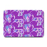 Cute Violet Elephants Pattern Small Doormat  24 x16 Door Mat - 1