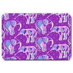 Cute Violet Elephants Pattern Large Doormat  30 x20 Door Mat - 1