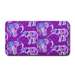 Cute Violet Elephants Pattern Medium Bar Mats