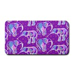 Cute Violet Elephants Pattern Medium Bar Mats 16 x8.5 Bar Mat - 1