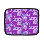 Cute Violet Elephants Pattern Netbook Case (Small)  Front