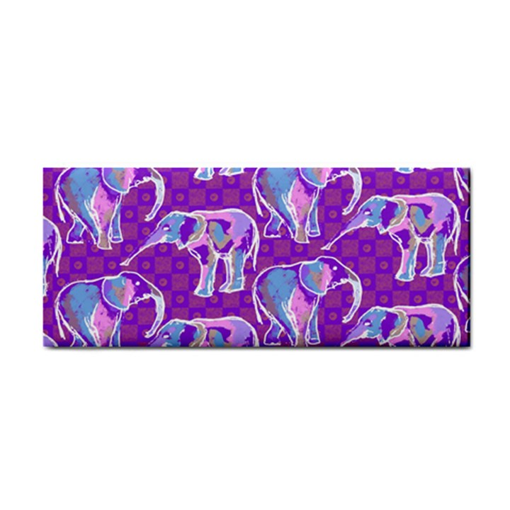 Cute Violet Elephants Pattern Hand Towel