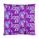 Cute Violet Elephants Pattern Standard Cushion Case (Two Sides) Back