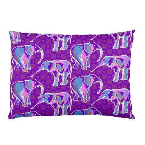 Cute Violet Elephants Pattern Pillow Case
