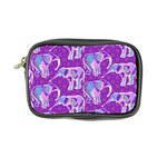 Cute Violet Elephants Pattern Coin Purse Front