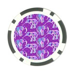 Cute Violet Elephants Pattern Poker Chip Card Guards (10 pack)  Front