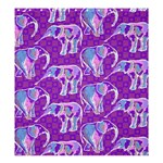 Cute Violet Elephants Pattern Shower Curtain 66  x 72  (Large)  58.75 x64.8 Curtain
