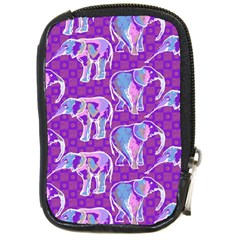 Cute Violet Elephants Pattern Compact Camera Cases