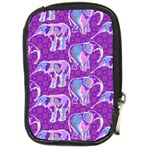 Cute Violet Elephants Pattern Compact Camera Cases Front