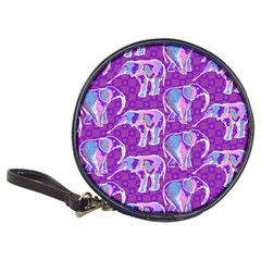 Cute Violet Elephants Pattern Classic 20-CD Wallets