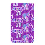 Cute Violet Elephants Pattern Memory Card Reader Front