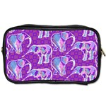 Cute Violet Elephants Pattern Toiletries Bags Front