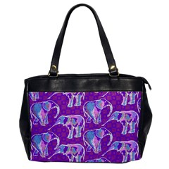 Cute Violet Elephants Pattern Office Handbags
