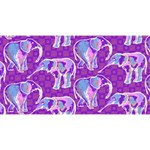 Cute Violet Elephants Pattern Magic Photo Cubes Long Side 1