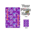 Cute Violet Elephants Pattern Playing Cards 54 (Mini)  Front - Joker2
