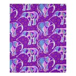 Cute Violet Elephants Pattern Shower Curtain 60  x 72  (Medium)  54.25 x65.71 Curtain