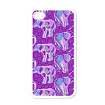 Cute Violet Elephants Pattern Apple iPhone 4 Case (White) Front