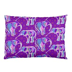 Cute Violet Elephants Pattern Pillow Case (two Sides)