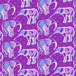 Cute Violet Elephants Pattern Laugh Live Love 3D Greeting Card (8x4) Inside