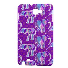 Cute Violet Elephants Pattern Samsung Galaxy Note 1 Hardshell Case