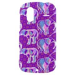 Cute Violet Elephants Pattern HTC Amaze 4G Hardshell Case