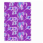 Cute Violet Elephants Pattern Small Garden Flag (Two Sides) Back