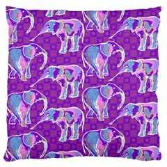 Cute Violet Elephants Pattern Large Cushion Case (one Side)