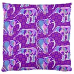 Cute Violet Elephants Pattern Large Cushion Case (One Side) Front