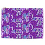 Cute Violet Elephants Pattern Cosmetic Bag (XXL)  Front