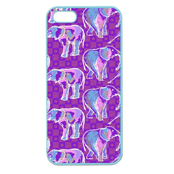 Cute Violet Elephants Pattern Apple Seamless iPhone 5 Case (Color)