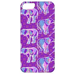 Cute Violet Elephants Pattern Apple Iphone 5 Classic Hardshell Case