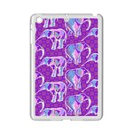 Cute Violet Elephants Pattern iPad Mini 2 Enamel Coated Cases Front