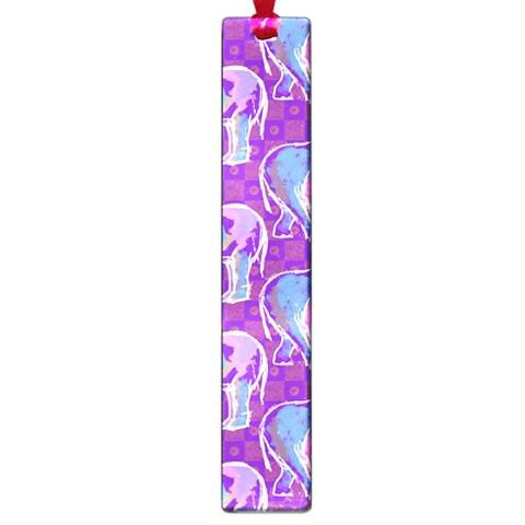 Cute Violet Elephants Pattern Large Book Marks