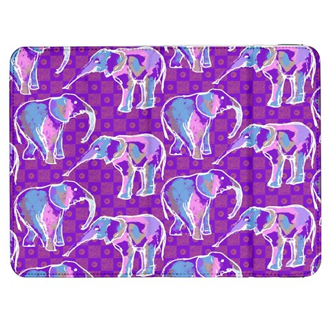 Cute Violet Elephants Pattern Samsung Galaxy Tab 7  P1000 Flip Case