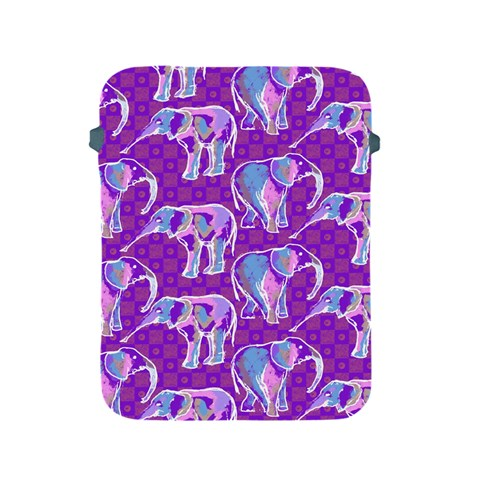 Cute Violet Elephants Pattern Apple iPad 2/3/4 Protective Soft Cases