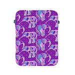 Cute Violet Elephants Pattern Apple iPad 2/3/4 Protective Soft Cases Front
